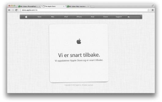 Apple Store offline: Neue Produkte – oder eher Wartung (Update)