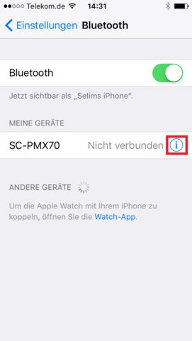 iPhone Bluetooth Problem