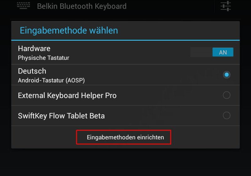 Korrektes Layout Für Bluetooth Tastaturen Android Essentials Giga