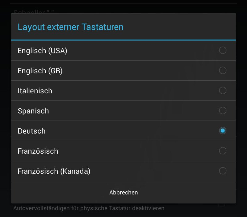 Korrektes Layout für Android-Bluetooth-Tastaturen 10