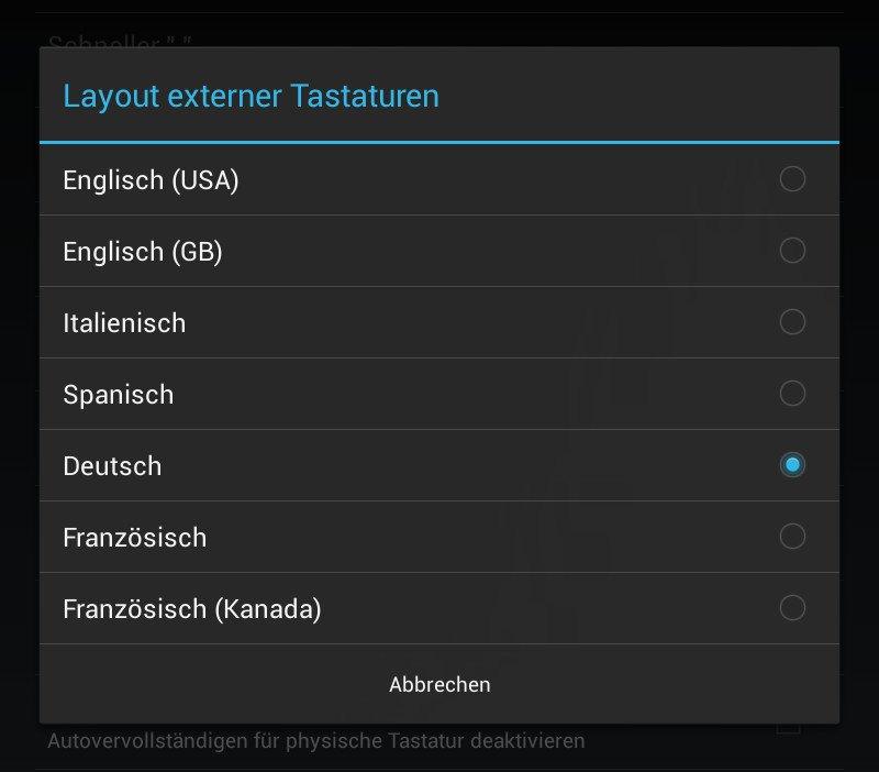 Korrektes Layout für Android-Bluetooth-Tastaturen 10