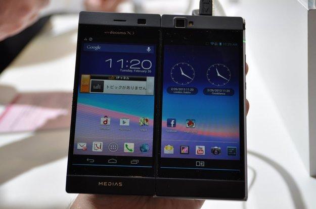 MWC 2013: NEC Medias W N-05E: Das Android-Smartphone mit zwei Displays