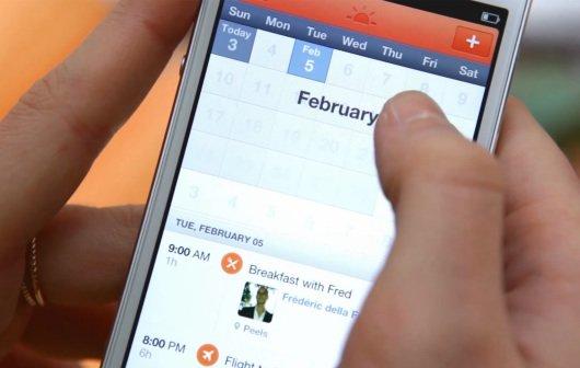 iPhone-Kalender Sunrise: Neues Konzept, inklusive Facebook-Veranstaltungen
