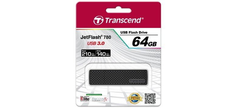 Transcend JetFlash 780 USB-Stick mit 64 GB und USB 3.0 für 48,90 Euro