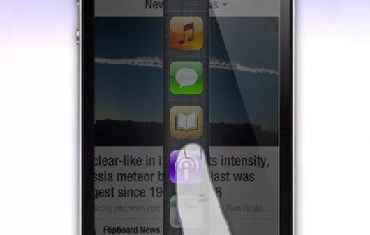 iOS 7 Konzept: Schnelles Wechseln zwischen Apps