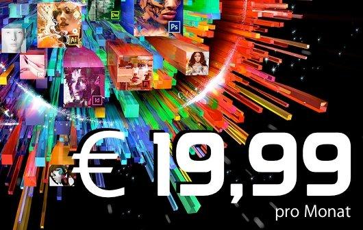 Adobe Creative Cloud Student and Teacher Edition jetzt für 19,99 Euro im Monat
