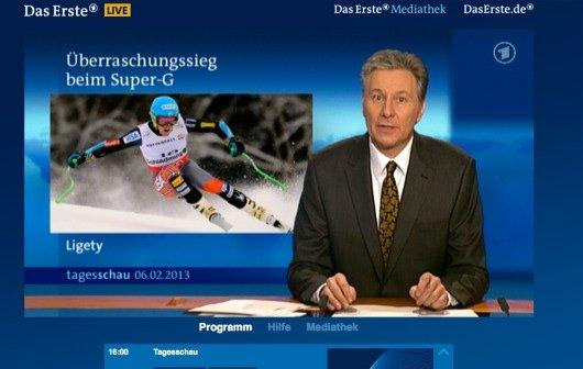 TV-App mit Livestream von Das Erste