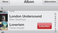 Musik vom iPhone löschen