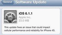 iOS 6.1.1: Apple veröffentlicht Update für iPhone 4S