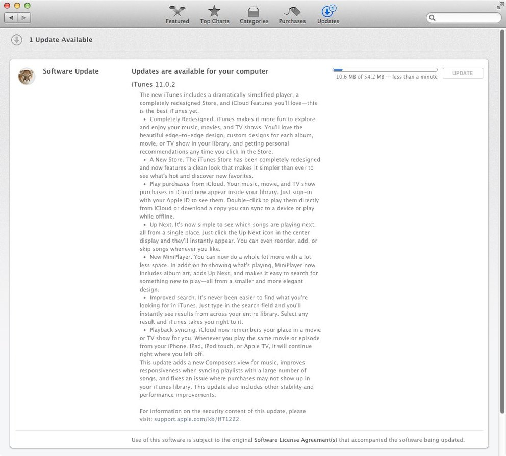 iTunes 11 Changelog
