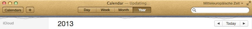 OS X Mountain Lion Kalender