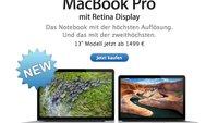 Retina-MacBook Pro 2013: Neue Modelle nur um 3 bis 5 Prozent schneller