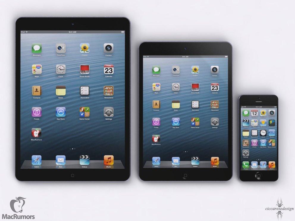 iPad 5 Rendering - iPad 4 - iPhone 5