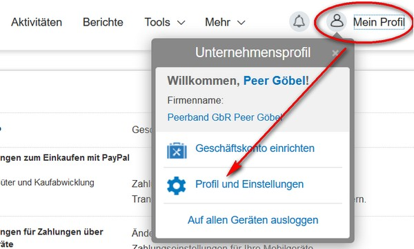 Paypal Konto Г¤ndern