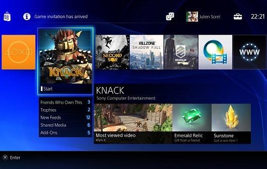 PS4: Bilder zum User Interface veröffentlicht