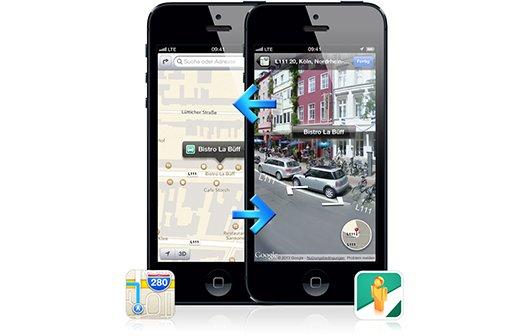Street View: App bringt Straßenansicht in Apple Maps on