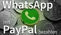 Whatsapp: Alternative Zahlungsmöglichkeiten via PayPal