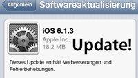 iOS 6.1.3: Apple veröffentlicht Update [Download]