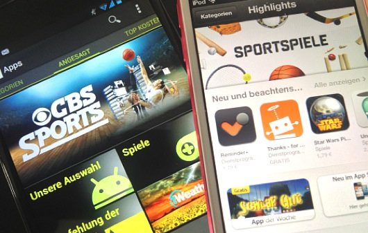 Google Play Store vor Apple App Store – und dahinter