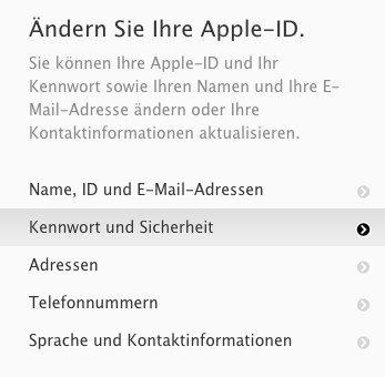 Apple - Meine Apple-ID