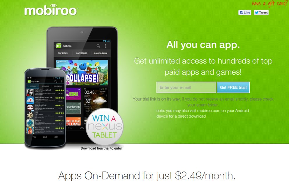 Mobiroo: App-Flatrate mit Zukunft?