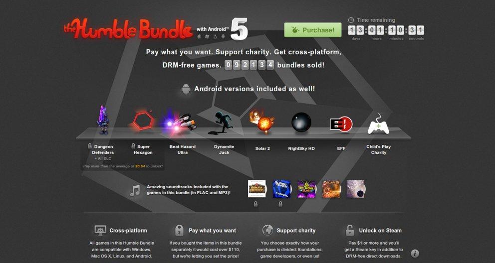 Humble Bundle 5: Spieleschnäppchen für den guten Zweck