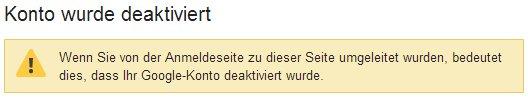 Google+ GESPERRT