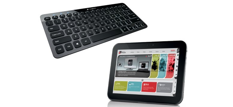 Osterrabatte: Logitech Bluetooth Keyboard und Toshiba AT300-101