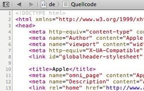 Safari 6: Quelltext von Webseiten anzeigen