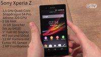Sony Xperia Z: Wasser hat ihm nichts an, aber was ist mit Schokolade?
