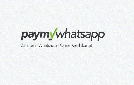 PayMyWhatsApp - WhatsApp mit Aufpreis per Bankverbindung bezahlen