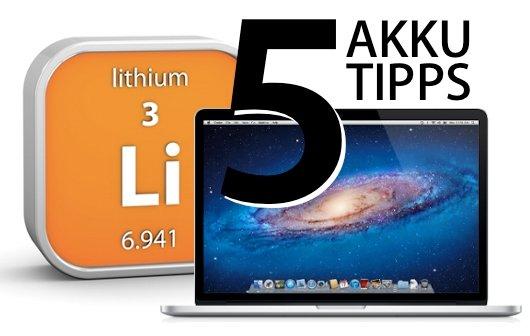 MacBook Air, Pro und Retina: 5 Tipps für den Akku