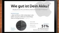 MacBook Air, Pro und Retina: Akkus auf dem Prüfstand (Infografik)