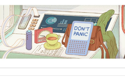 Google ehrt Douglas Adams: So funktioniert das Galaxis-Doodle