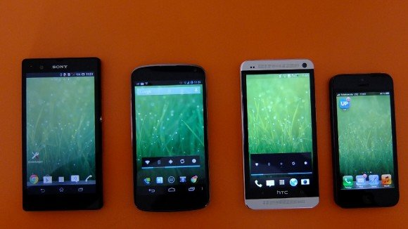 Display-Vergleich: HTC One vs Nexus 4 vs iPhone 5 vs Sony Xperia Z