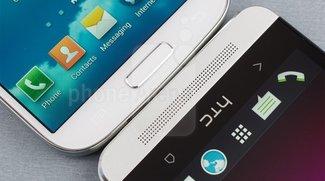 HTC One und Samsung Galaxy S4 im direkten Vergleich