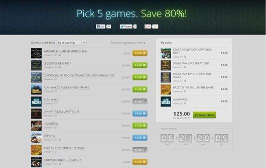 """GOG: Mit der """"Pick 5"""" Promo 80% sparen"""