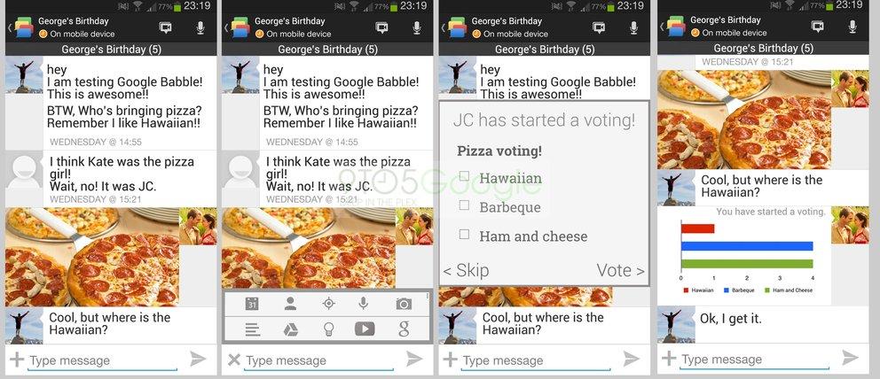 Google Babble Screenshot
