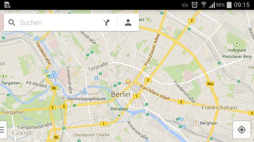 google-maps-standardansicht