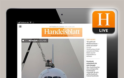 Handelsblatt Live: iPad-App mit drei Ausgaben täglich