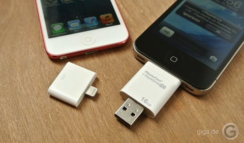 Gibt es einen usb stick oder usb adapter für ipad u giga