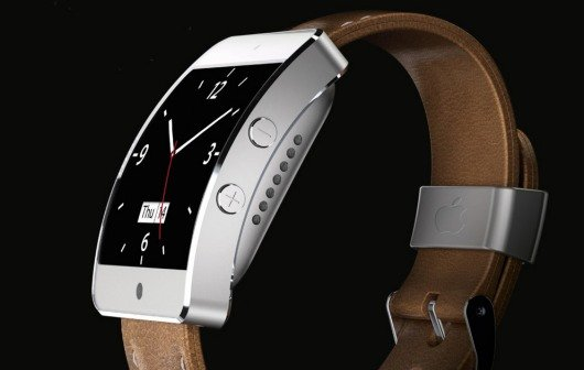 iWatch-Konzept: iOS-Uhr mit Lederarmband