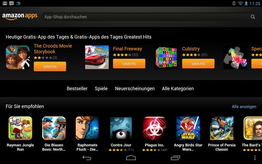 Amazon App-Shop heute mit diversen Gratis-Apps