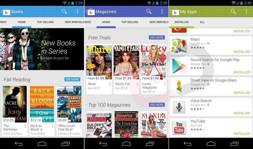 Neuer Play Store zeigt sich auf Bildern und im Video