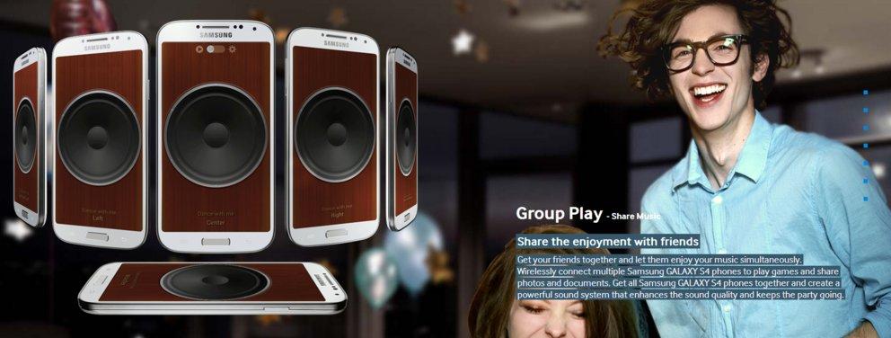 Samsung Galaxy S4 Group Play