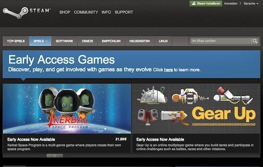 Early Access: Vorab-Versionen von Spielen bei Steam