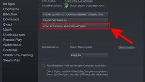 Steam: E-Mail-Adresse ändern – so geht's