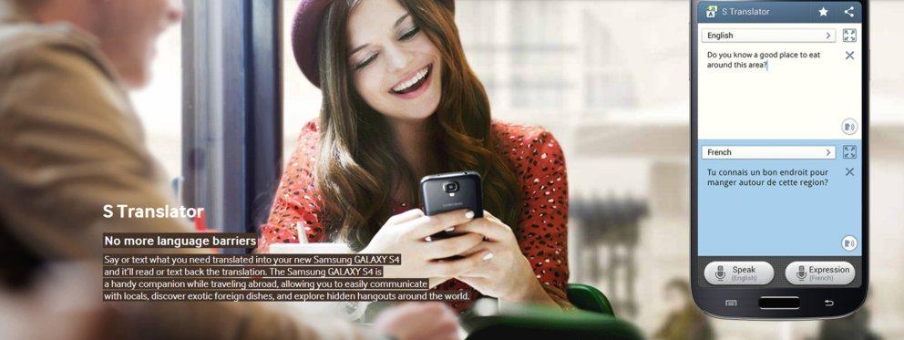 Samsung Galaxy S4 - S Translator