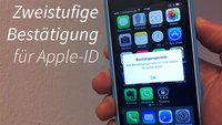 Sicherheit: Apple-ID schützen mit SMS-Code - Zweistufige-Bestätigung einschalten