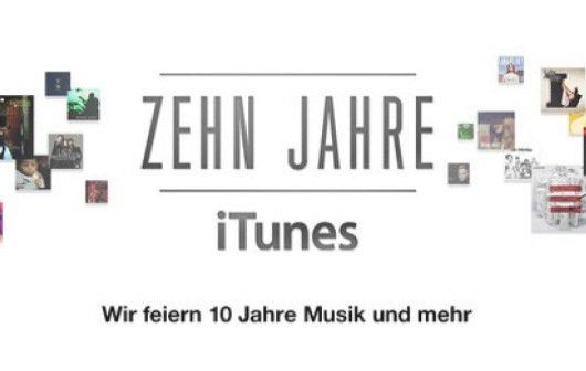 10 Jahre iTunes Store: Apple-Grafik der Meilensteine